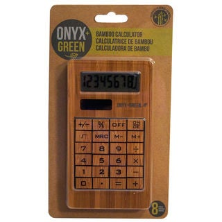 Onyx And Blue Corporation 4404 Bamboo Calculator