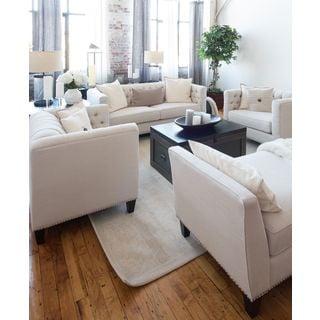 South Beach Seashell Fabric 4-Piece Living Room Set