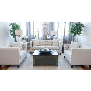 Elements South Beach Fabric Collection Seashell 3-piece Sofa Set