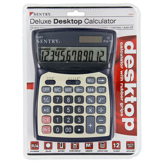 Sentry CAL-CA277 Black Deluxe Desktop Calculator