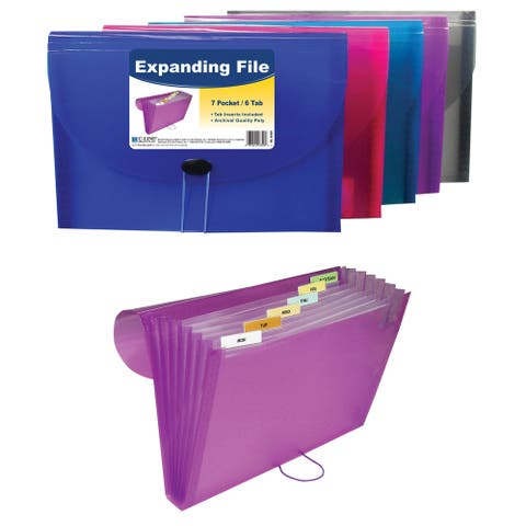"C Line Products Inc 58300 11"" L X 8-1/2"" W 7 Pocket Expanding File Assorted"