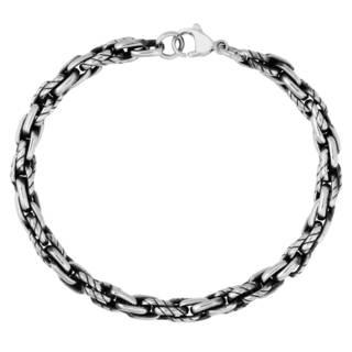 Men's Stainless Steel Black Plated Link Bracelet