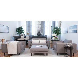 Retro Fabric Collection Taupe 4-piece Seating Set