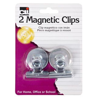 "Charles Leonard Inc. 80125 1-1/4"" Magnetic Spring Clip 2 Count"