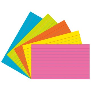 "Pacon 1726 3"" X 5"" Ruled Index Cards Assorted Bright Colors 75 Count"