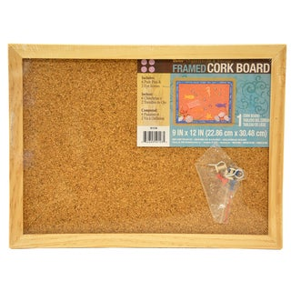 "Darice 9172-68 9"" X 12"" Wood Frame Cork Memo Board"