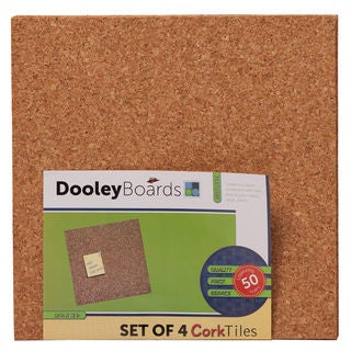 Dooley Boards 1212 COTL4 4 Pack 12 x 12 Cork Tile Board