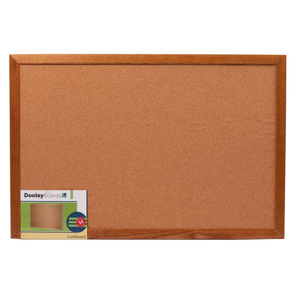 Shop Dooley Boards 2335code 23 X 35 Oak Frame Cork Board Free