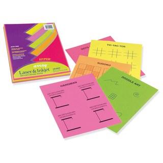 "Pacon 101155 8-1/2"" X 11"" Bond Paper Assorted Hyper Colors 100 Count"