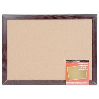 """Dooley Boards 1723CODE 17"""" X 23"""" Oak Frame Cork Board"""