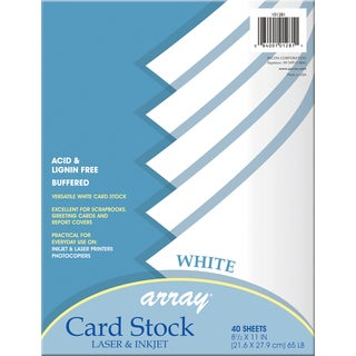"Pacon 101281 8-1/2"" X 11"" Card Stock 40 Count"