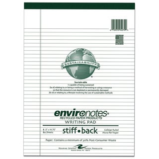 "Roaring Spring Paper Company 95279 8-1/2"" X 11-3/4"" White 80 Sheet College Ruled Legal Pad"