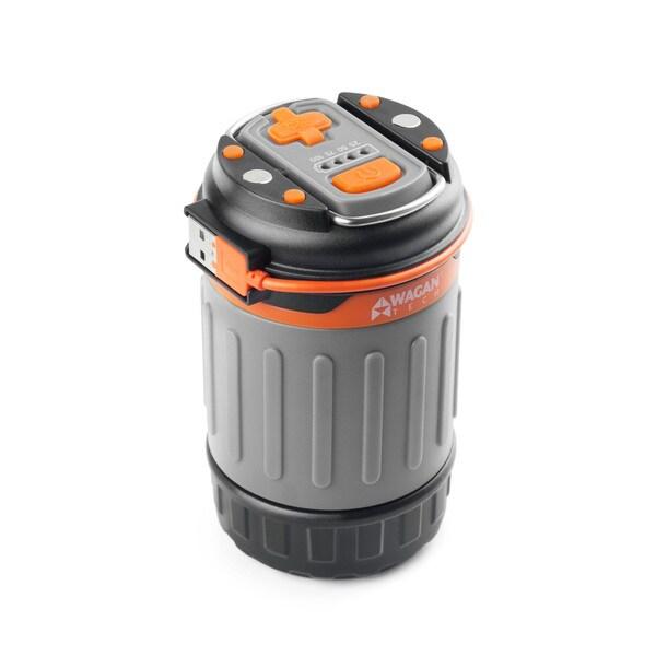 Wagan Brite-Nite Silvertone Pop-up USB Power Bank Lantern