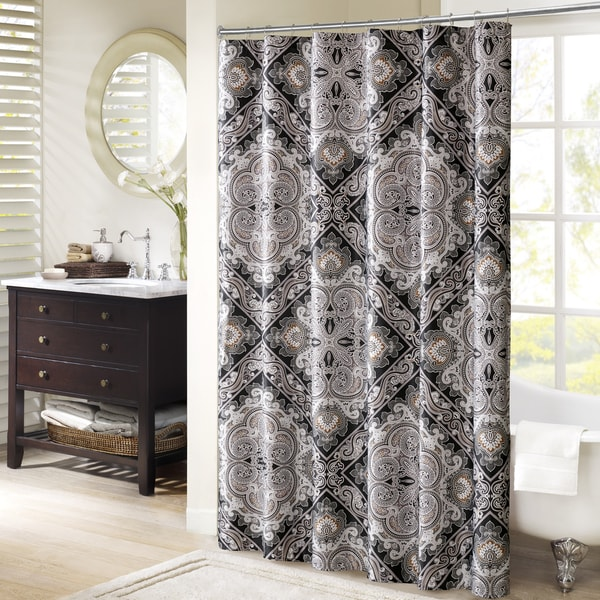 Madison Park Florence Printed Shower Curtain 3-Color Option