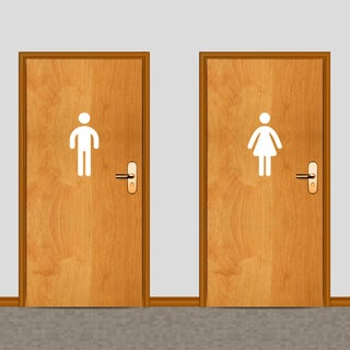 Men's and Women's Restroom 12-inch Tall Wall Decals