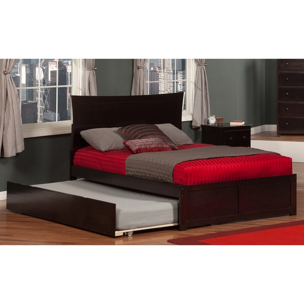 Atlantic Metro Espresso-colored Full-size Flat-panel Foot Board with Urban Trundle