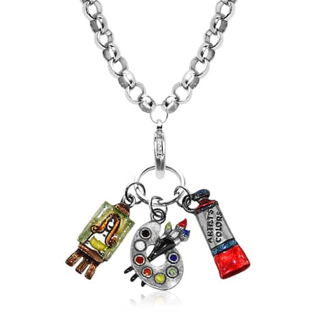 Artist Charm Necklace in Silver