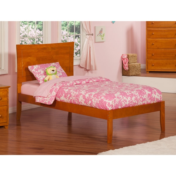 Atlantic Kids' Metro Caramel Latte Twin Open-foot Platform Bed