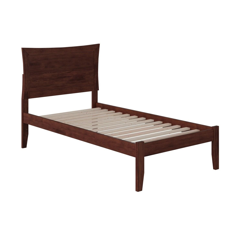 Atlantic Furniture Metro Walnut (Brown) Twin Open Foot Be...