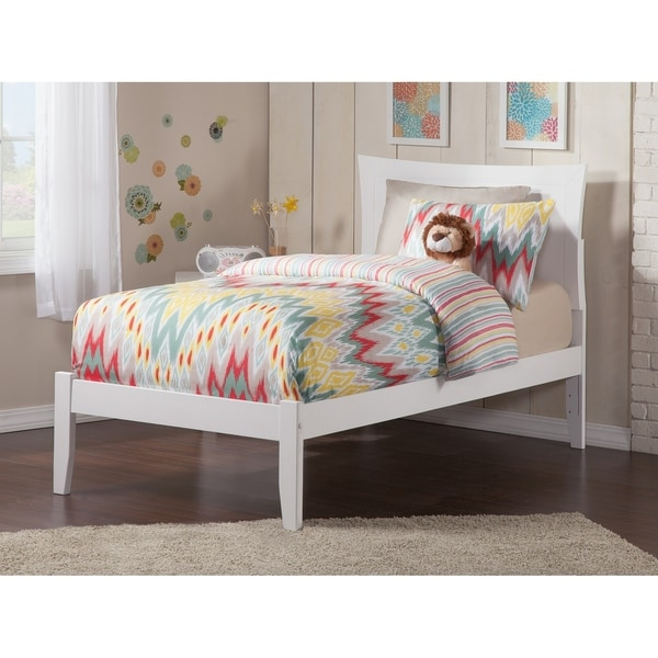 Metro Twin XL White Open-foot Bed