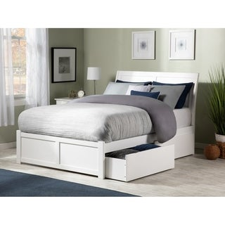 Portland White Panel Full-size Storage Bed