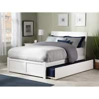 Atlantic 'Portland' White Wood Panel Full-size Bed with Trundle Bed
