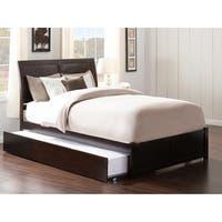 Atlantic Kids' Portland Espresso Full-size Flat-panel Footboard Platform Bed with Urban Trundle