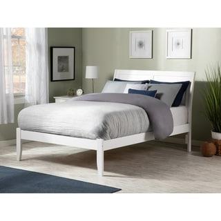 Portland White Full-size Open-foot Platform Bed