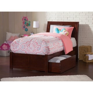 Portland Walnut Panel Twin-size Storage Bed