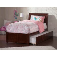 Portland Walnut Panel Twin-size Bed with Trundle Bed