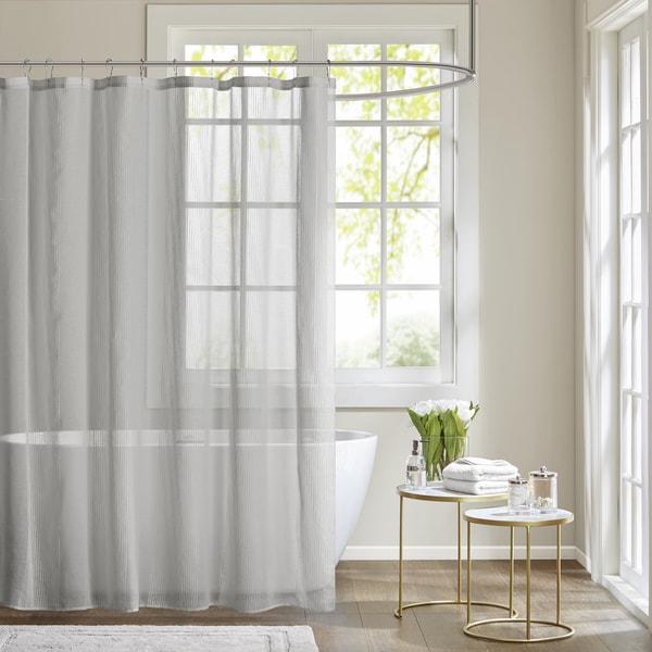 Madison park lydia shower curtain 2 color option free - Madison park bathroom accessories ...