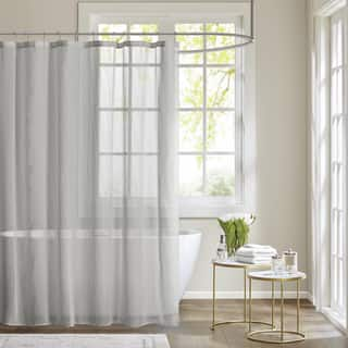 Madison Park Lydia Sheer Shower Curtain 3-Color Option