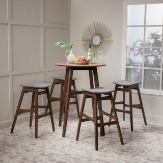 Emmaline Mid-Century 5-piece Bar Height Dining by Christopher Knight Home