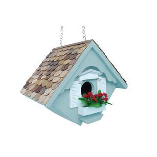 Home Bazaar Blue Wood Little Wren House