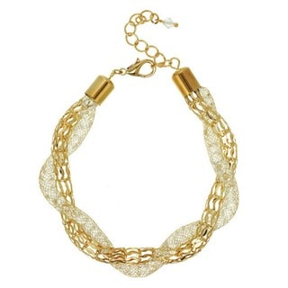 J&H Designs Glass Mesh Twisted Bracelet