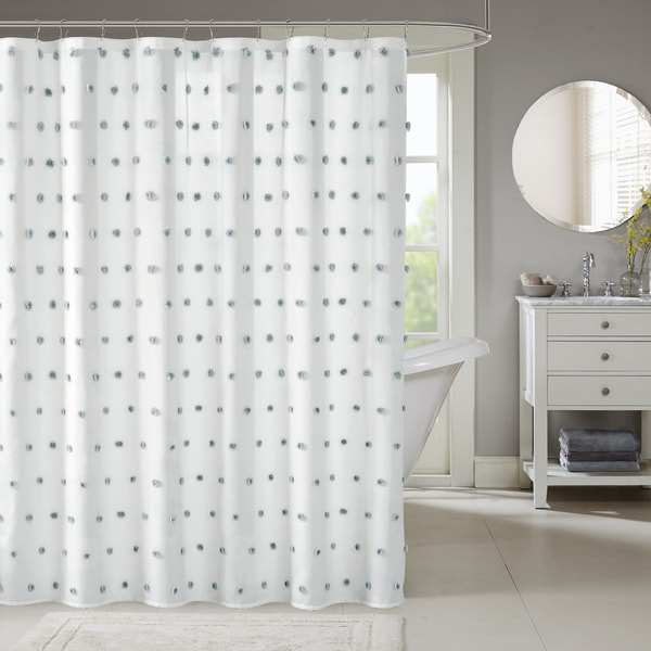 Shop Madison Park Lauren White Shower Curtain