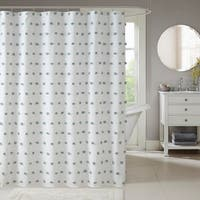 Madison Park Lauren White Shower Curtain