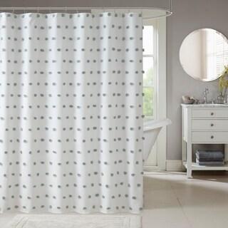 Madison Park Lauren White Shower Curtain