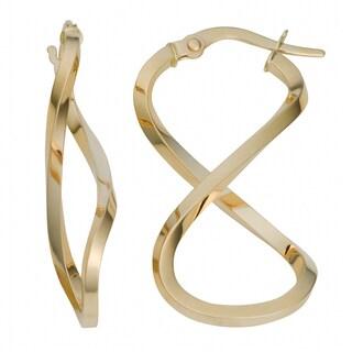 Fremada Italian 14k Yellow Gold Infinity Earrings