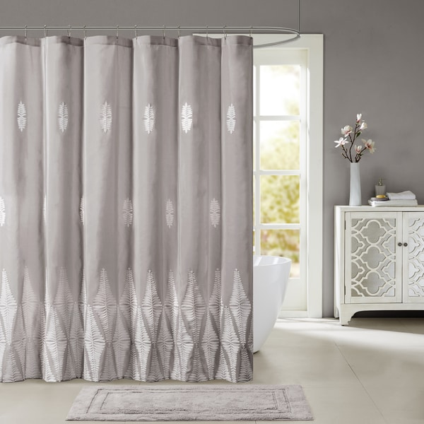 Shop Madison Park Sabrina Shower Curtain With Embroidery 2-Color ...