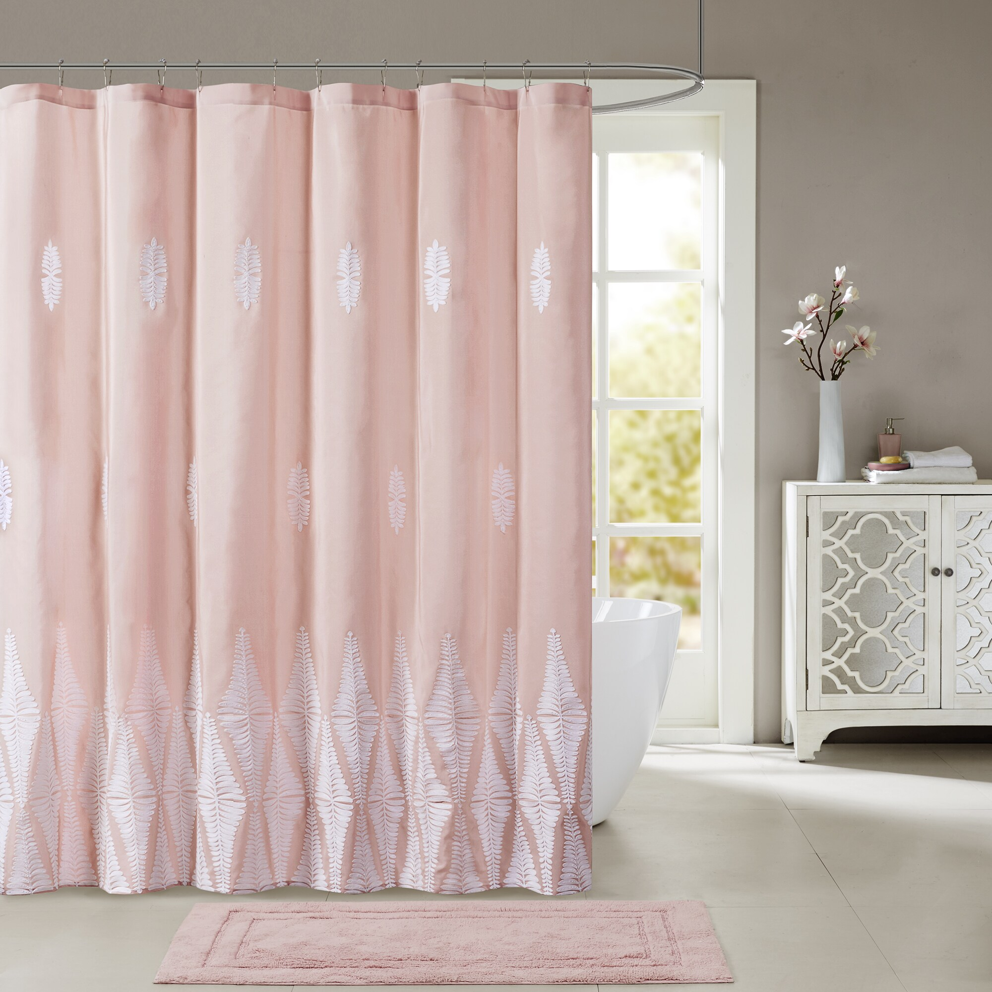 Pink Shower Curtains For Less | Overstock.com   Vibrant Fabric Bath Curtains