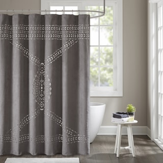 Madison Park Riley Grey Shower Curtain