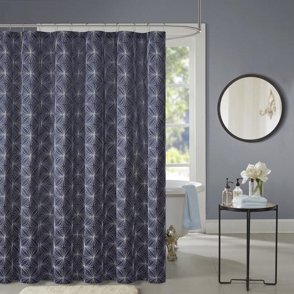 Shop Madison Park Jordan Embroidered Shower Curtain 2