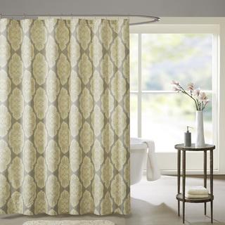 Madison Park Pure Luna Cotton Printed Shower Curtain 2-Color Option