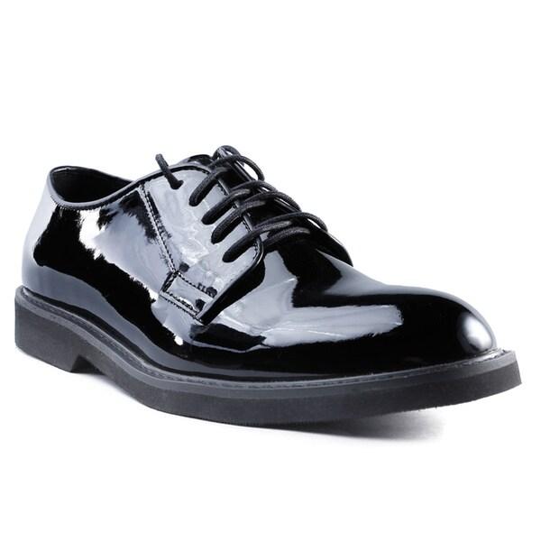 Ridge Outdoors Men's Black Patent PU Oxford Lite Shoes