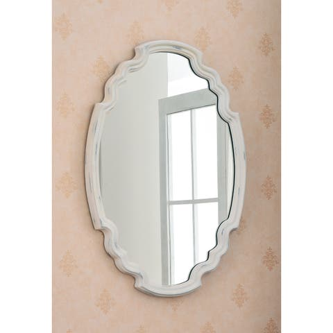 Theater White 25-inch Wall Mirror