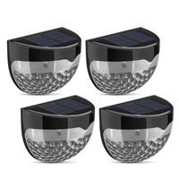 Solar Waterproof  LED Outdoor Light with Auto On at Dusk/Off at Dawn Light Sensor (Pack of 4)