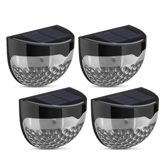 Solar Weatherproof Wireless LED Outdoor Lamp with Auto On at Dusk/Off at Dawn Light Sensor (Pack of 4)