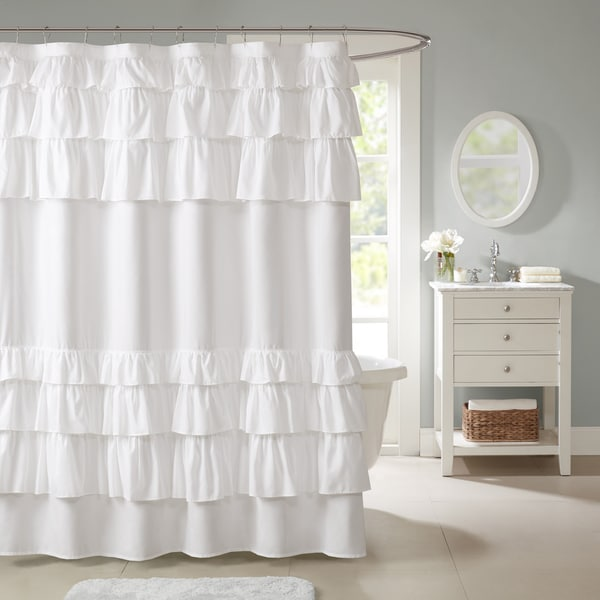 Madison Park Hope Ruffled Shower Curtain - Free Shipping On Orders ...
