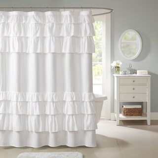 Maison Rouge Muset Ruffled Shower Curtain (2 options available)